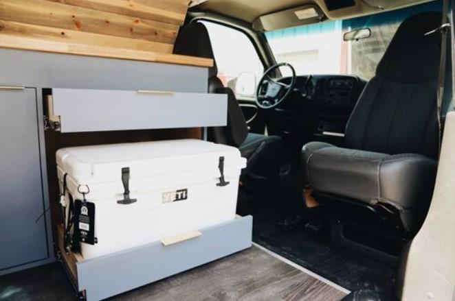 Baby Blue 2002 Chevy Express Van Build by Flippin Vans 06