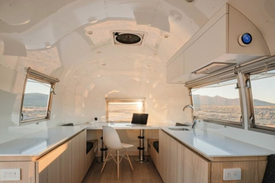 Bambi Airstream Trailer Turned Stylish Mobile Office – Image by Joe Fletcher via Edmonds Lee Architects