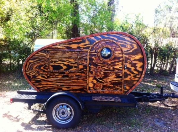 Beautiful Custom Wood Teardrop Camper 002