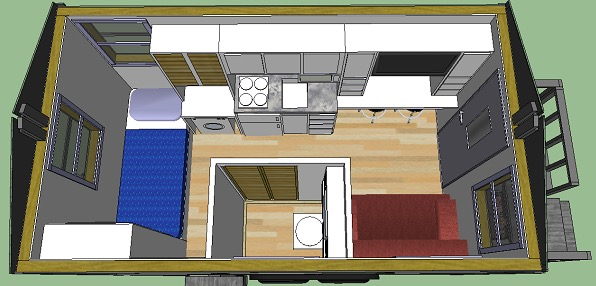 Big Tex Tiny House 8×14 Tiny House You Can Build For Only 3k In Materials 002