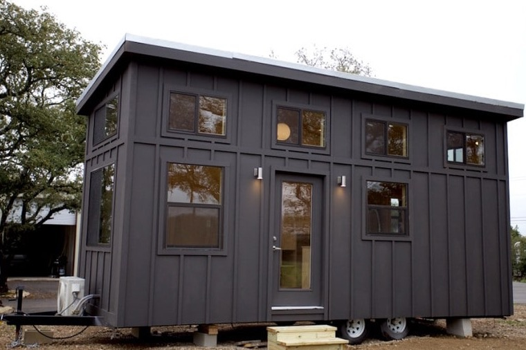 Black Pearl Tiny House on Small Loft House Plans