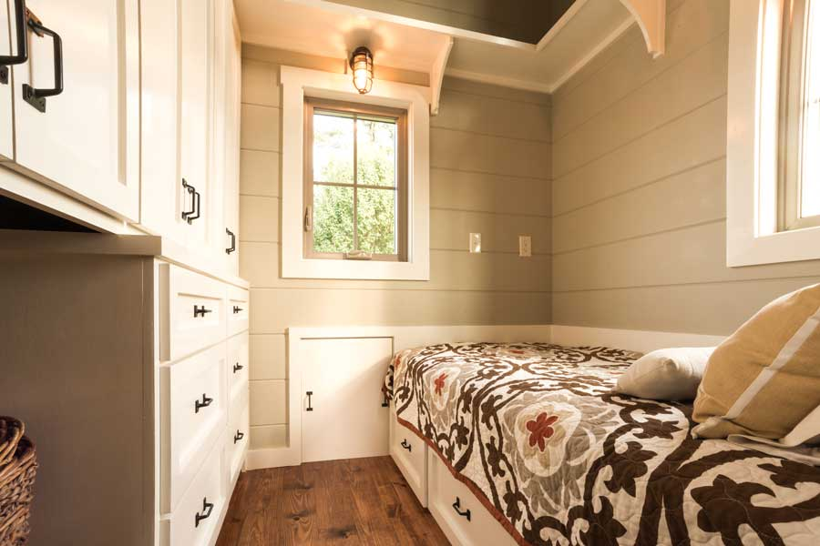 The Boxcar Tiny House With A Downstairs Bedroom And Lots