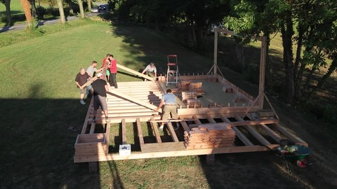 Build A Tiny House with Wooden Bricks