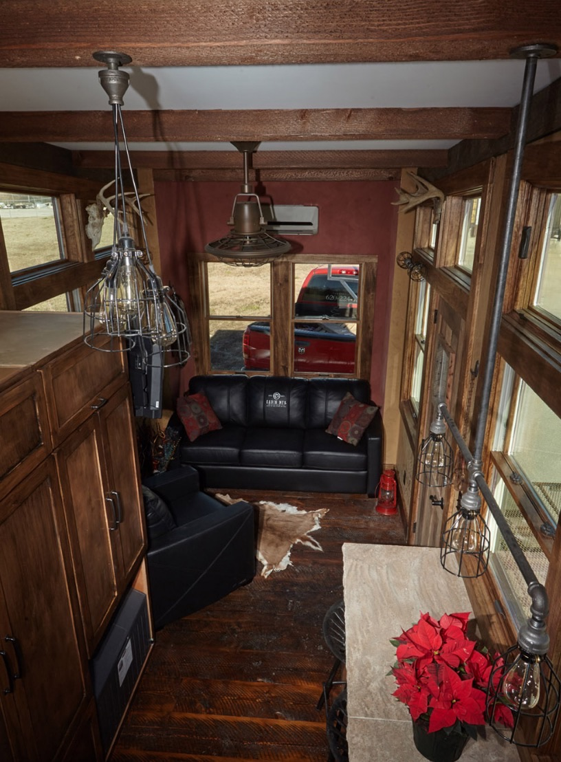 Bushwacker Tiny House... A Mobile Hunting Cabin! Images © CabinMfg.com