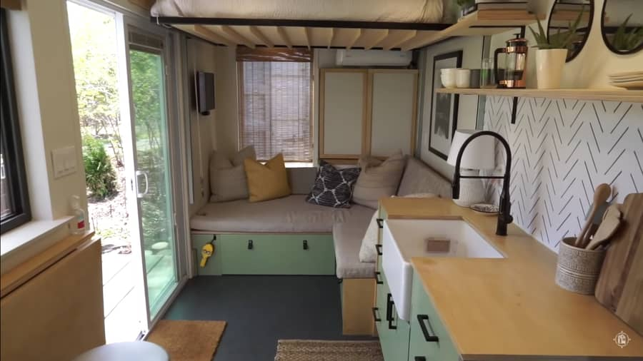Cam's Container Home Sits Over a Stream 3