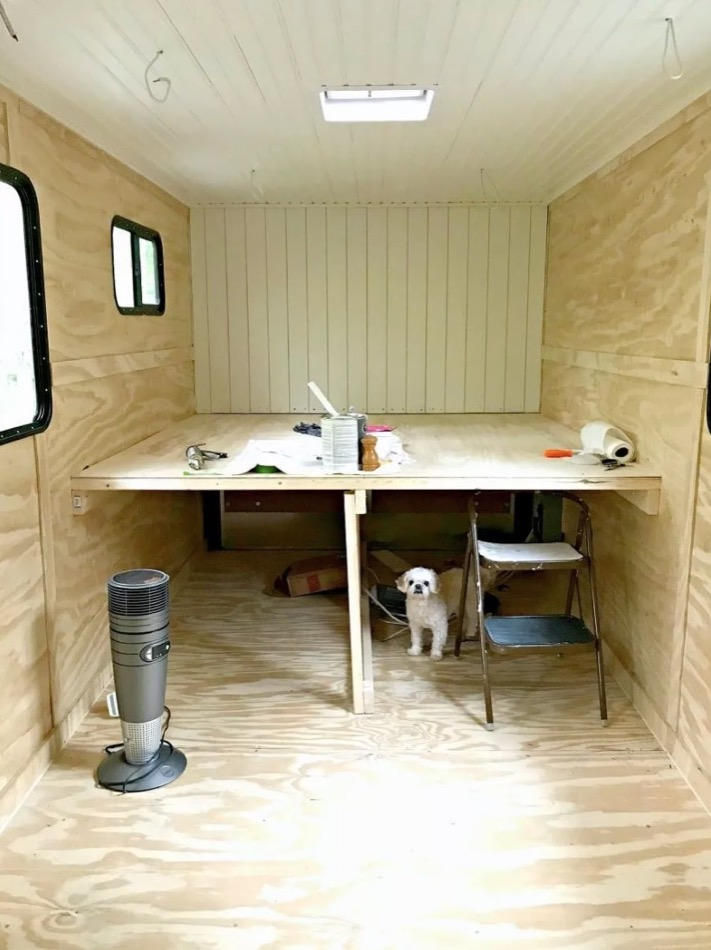 Cargo Trailer Turned DIY Tiny House RV with Awning via Chatfield Court 003