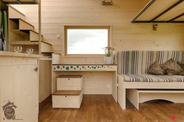 Cecile Tiny House with Convertible Roof by Opti Nid 006