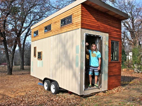 College Student Builds 145 Sq. Ft. Tiny House-001