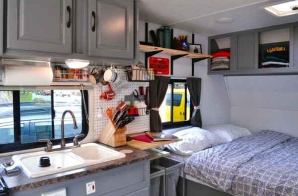 Couple Renovate Travel Trailer into Nomadic DIY Tiny Home 006