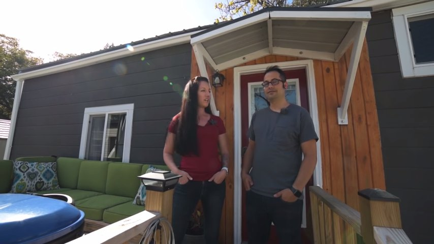 Couple in 30s Debt-free Thanks to Tiny House via Tiny Home Tours YouTube 001