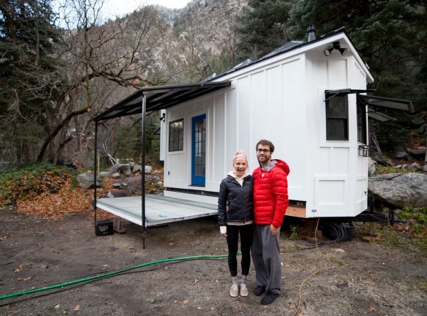 Couple S 192 Sq Ft Tiny House On Wheels In Sandy Utah
