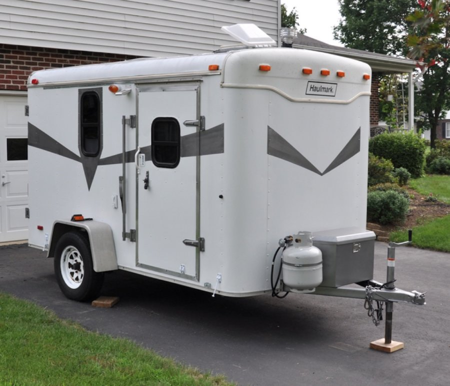 Couples Cargo Utility Trailer to Camper Conversion 001
