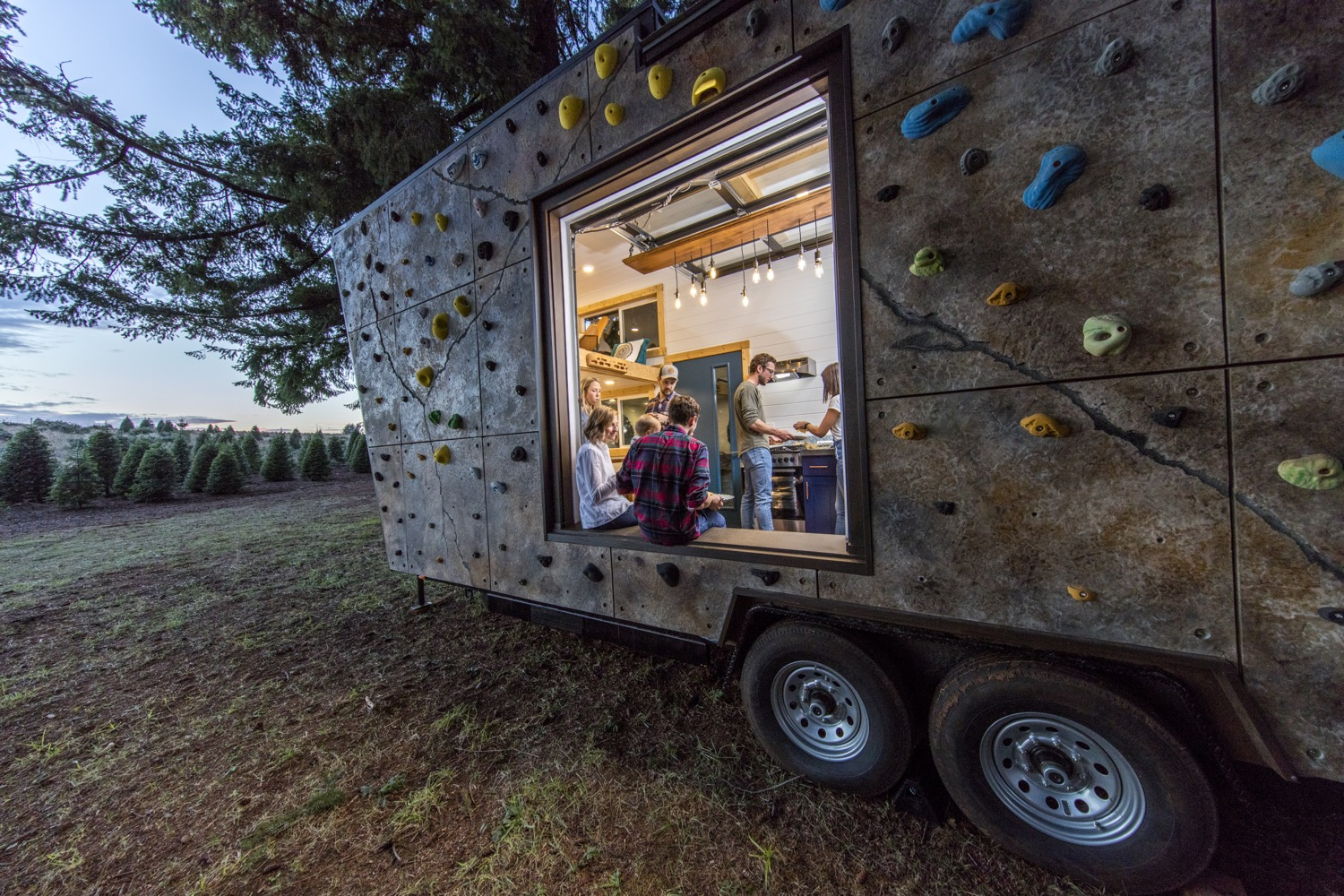 Couples Rock Climbing Tiny House Lifestyle by Tiny Heirloom 0026
