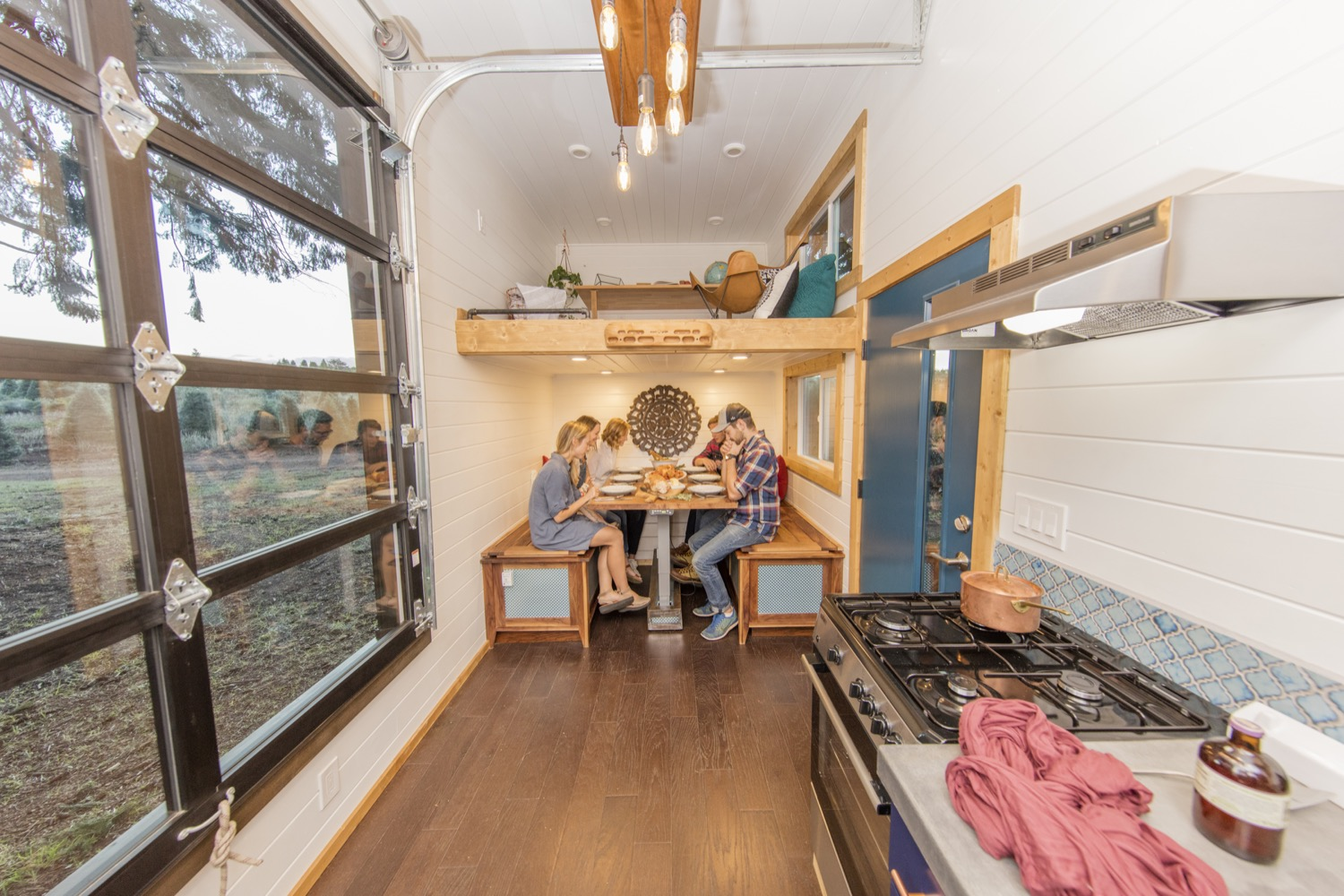 Couples Rock Climbing Tiny House Lifestyle by Tiny Heirloom Dining 002