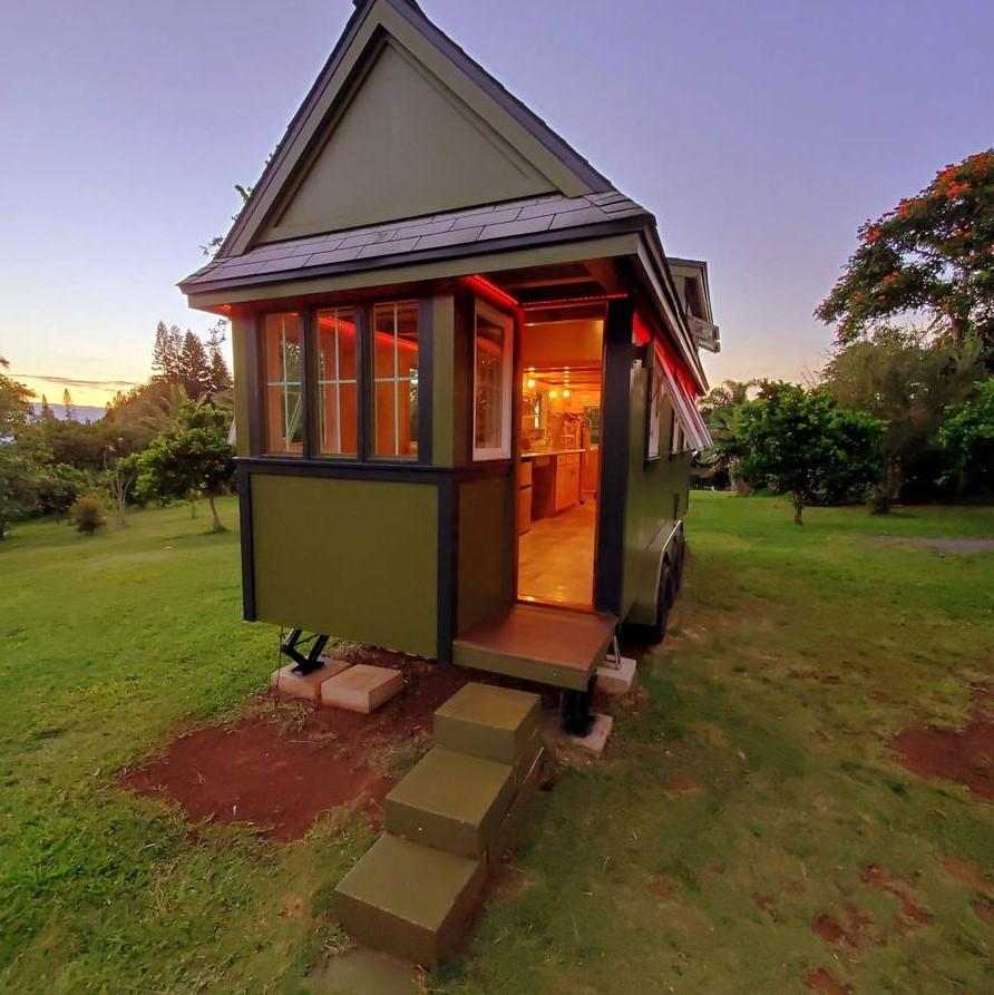 Custom 24-ft Cypress Tiny House For Sale in Maui Hawaii 001
