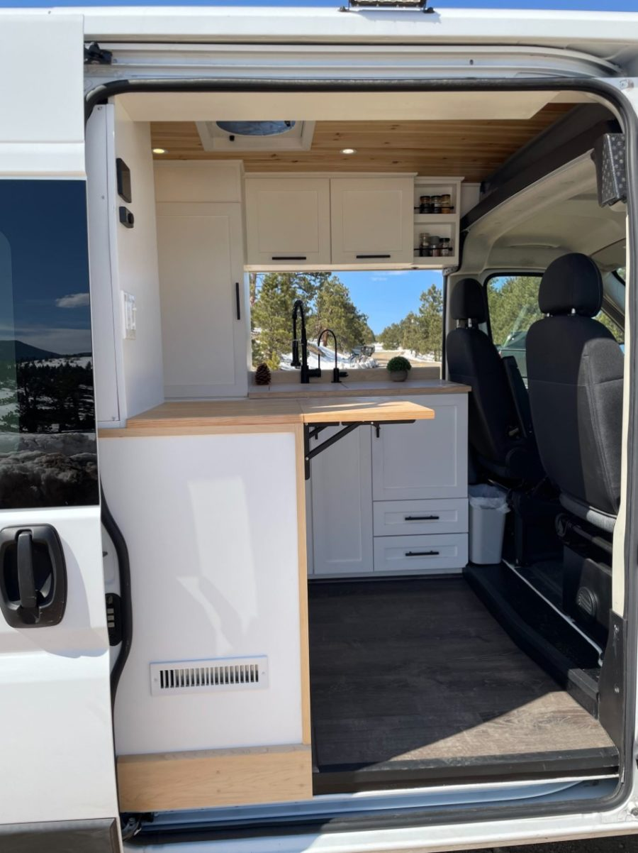 Custom ProMaster Van Conversion With Lift Bed by Mile High Vans 0010