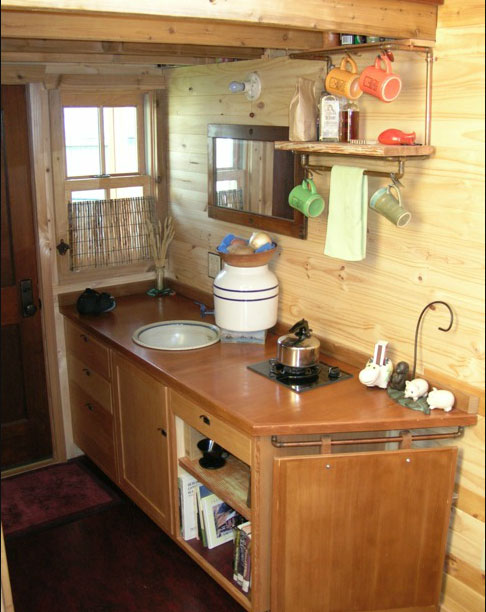 Dee Williams Kozy Kabin Tiny House Kitchen