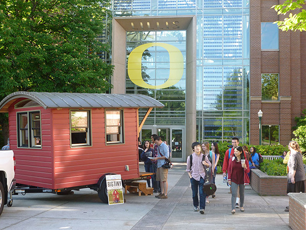 Dee Williams tiny house at the University of Oregon