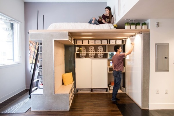 Domino Loft Multifunctional Tiny Apartment by ICOSA and Peter Suen 003