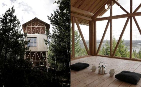 Elevated Zen Cabin Vacation in Sweden 003