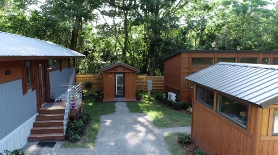 Escape Space Classic Shed at Tampa Bay Tiny House Village 001