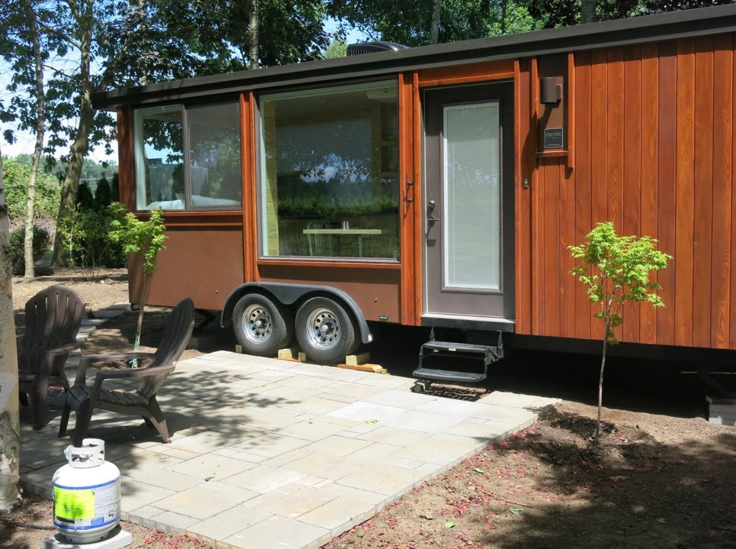 Vacation Home Plans Small Escape Vista Tiny House Vacation In Oregon