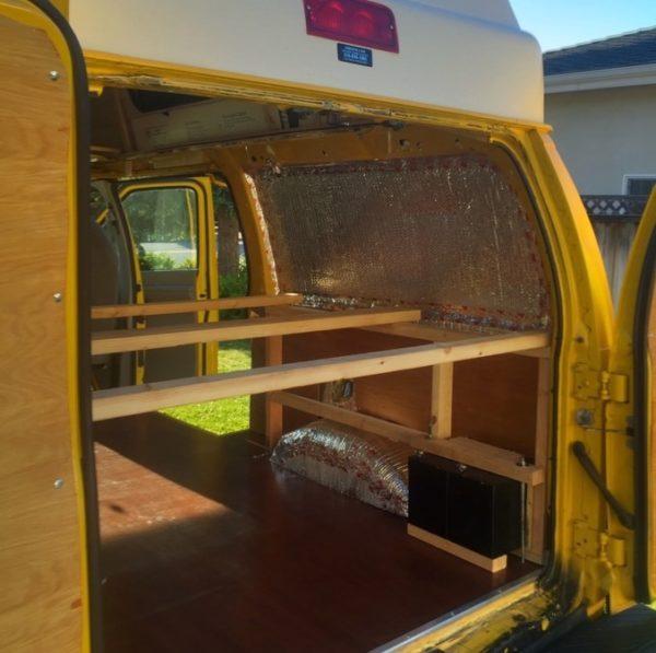 Evan's DIY Conversion Van Tiny Home 0028