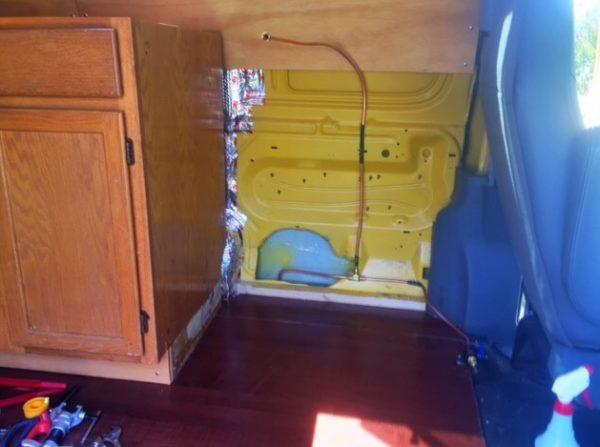 Evan's DIY Conversion Van Tiny Home 0040