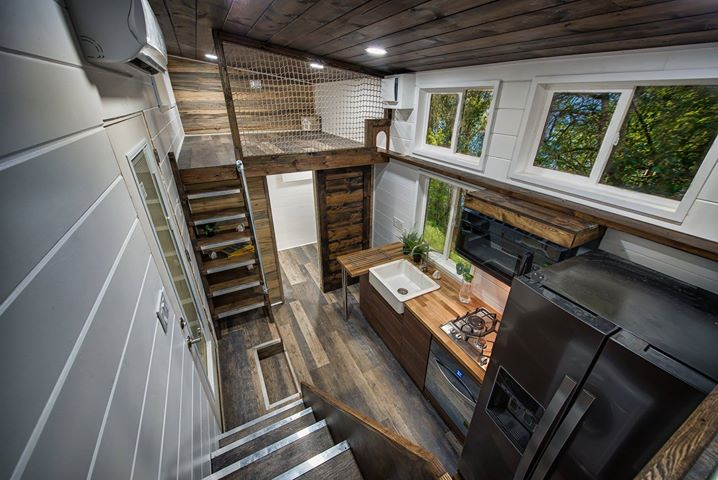 Family Of Five Build 30ft Tiny House On Wheels