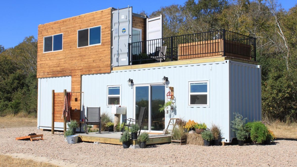 Family's Two-Story Shipping Container Tiny Home on green roof structure design, single container interior design, container construction, container architecture design, container home, kerala home plans and design, shipping container design, container box houses, steel container design, container buildings design, small 16x20 homes design, big boom design, container cabin design, storage container design, container cafe design, container store design, container restaurant design, container shop design, prefab warehouse design, container studio design,
