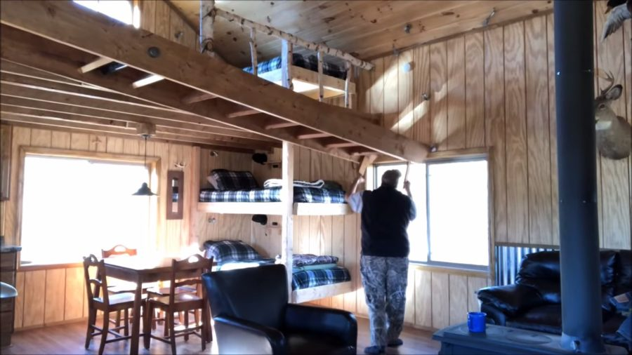 Father and Son Build 15k Tiny Cabin in the Woods via Michigan Backwoods 003