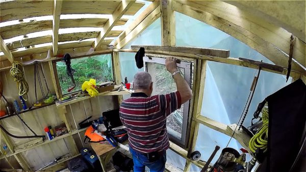 Father and Son Build 160 Dollar Bunkhouse Cabin 0015