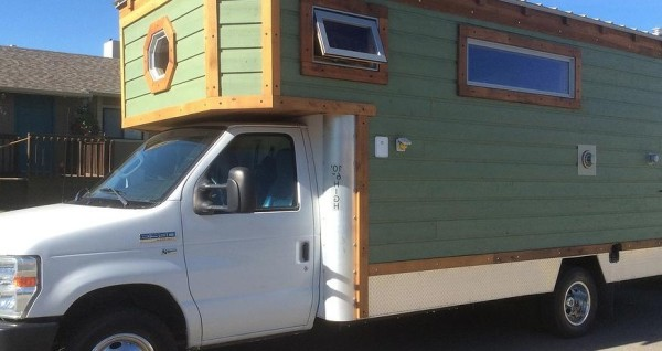 12 Volt Fridge >> Ford E-350 Motorized Tiny Home on Wheels