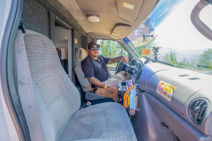 Former Paramedic Firefighter in his Overlandbulance 2
