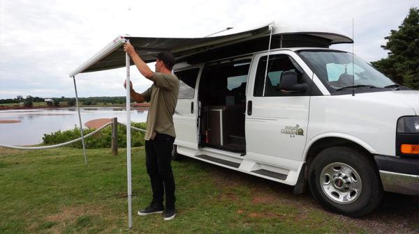 Julien from Go-Van - Van Life - Awning - Exploring Alternatives