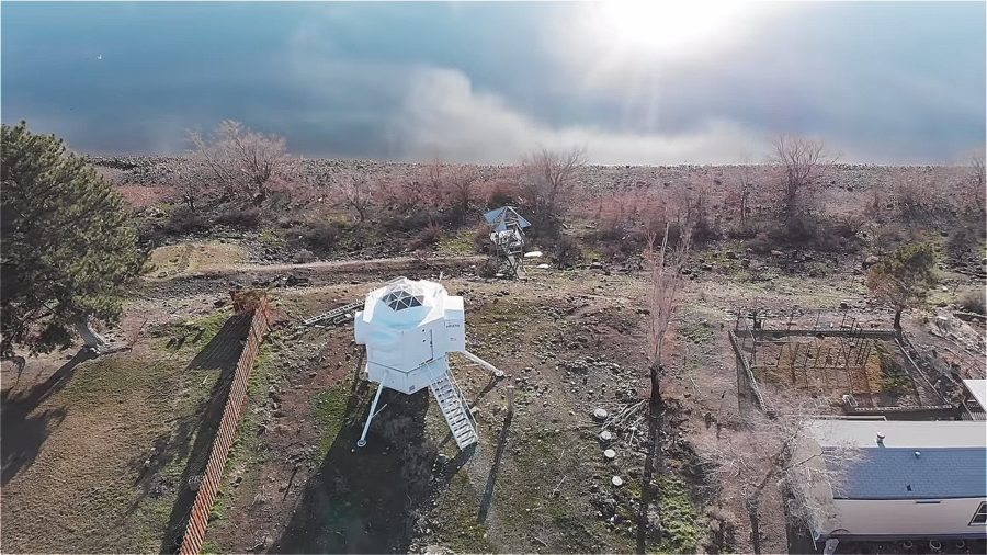 He built a Sci-Fi tiny house that's a replica of the Lunar Lander Image © Tiny House Giant Journey 0017