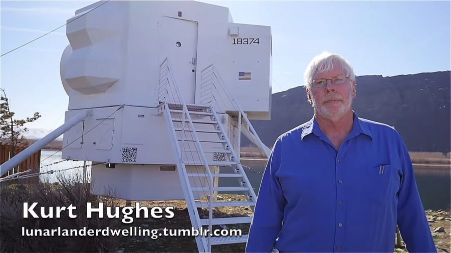 He built a Sci-Fi tiny house that's a replica of the Lunar Lander Image © Tiny House Giant Journey 0018