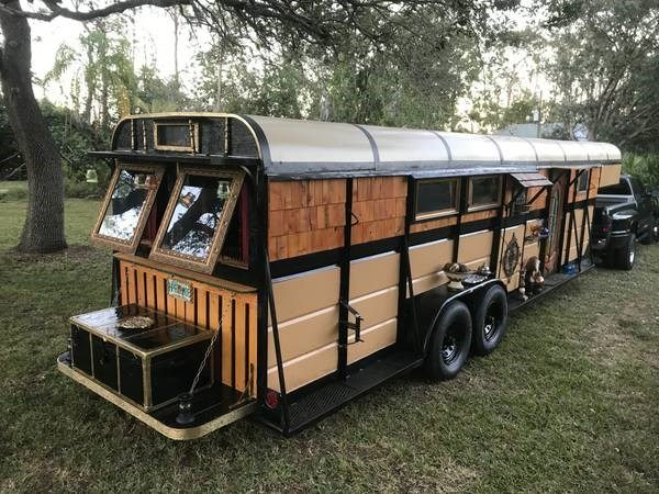 Horse Trailer to Gypsy Wagon Tiny House Conversion in Naples FL_001