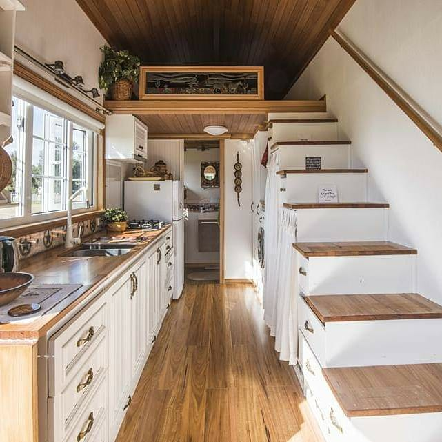 Her Beautiful DIY Tiny Home