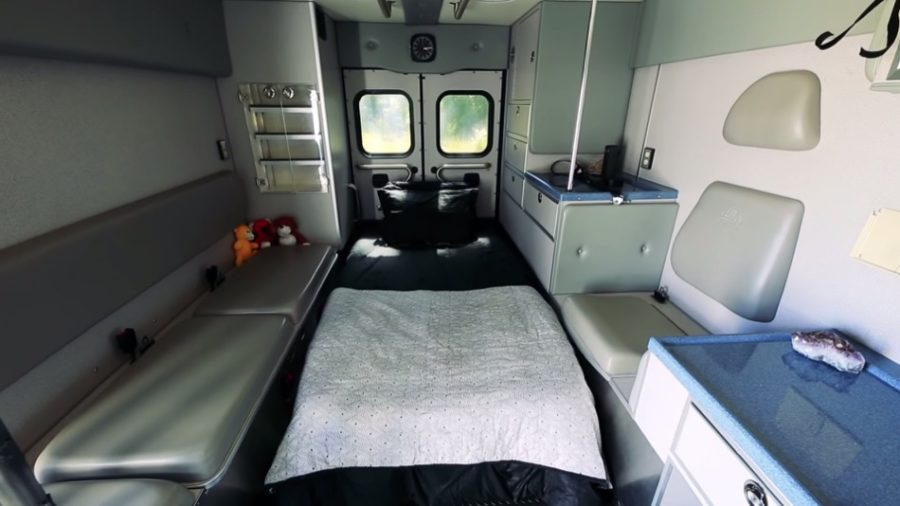 Living Big in a Tiny House Campulance Ambulance Conversion 001