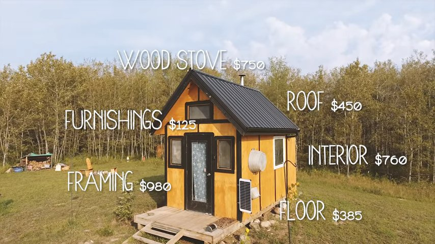 Man Builds 96 Sq. Ft. Cabin for 3K in 12 Days 3