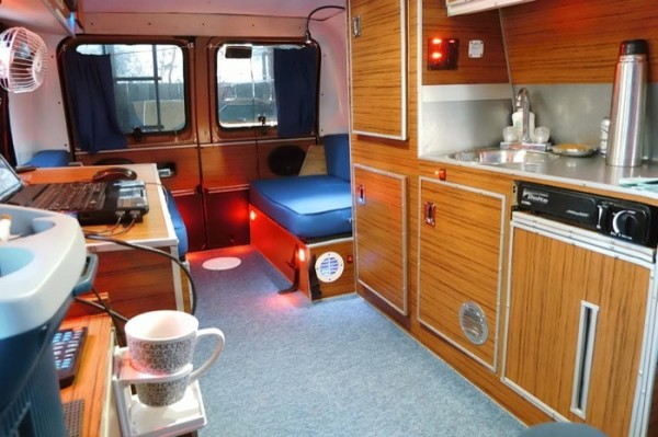 Mans DIY Micro Office And Camper Van 0013