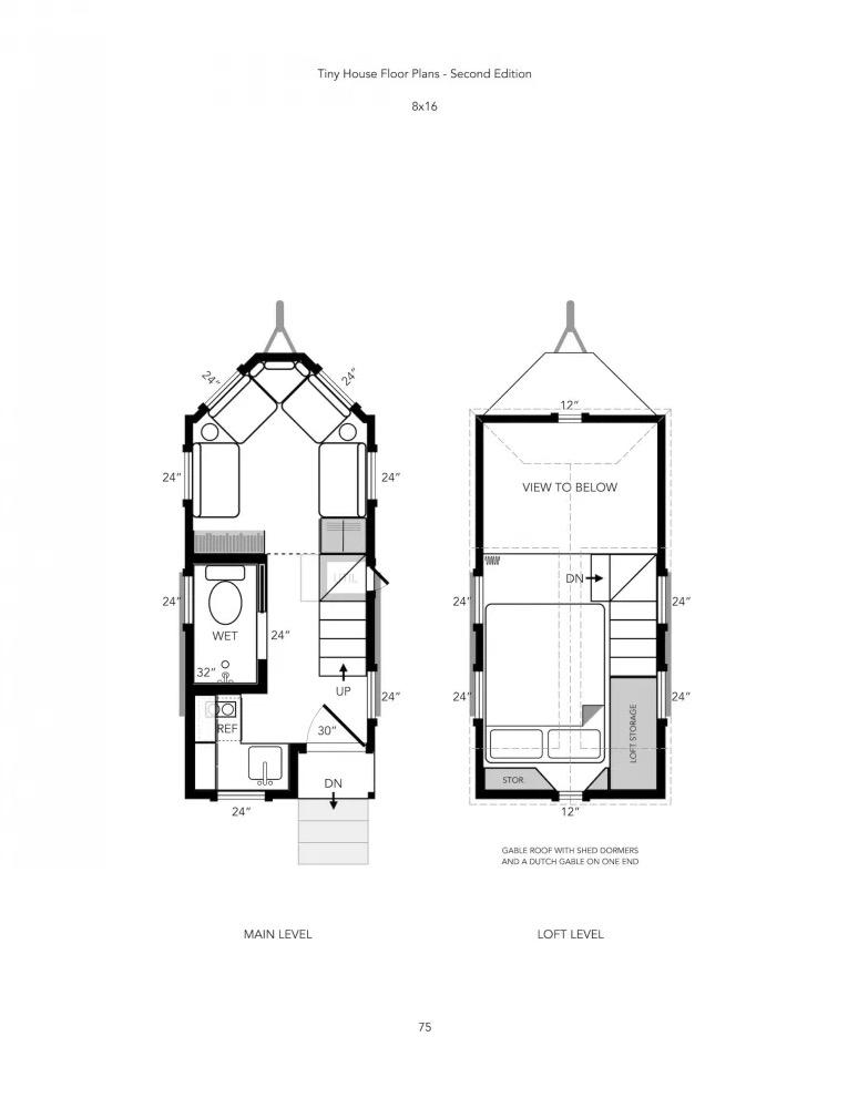 Michael Janzens Tiny House Floor Plans Book 2nd Edition 2021 003