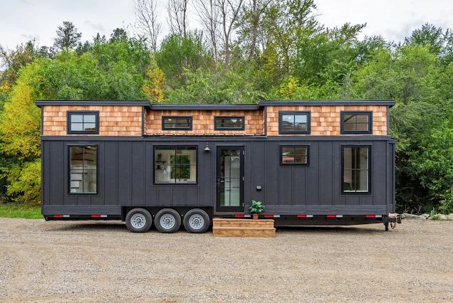 Modern Bohemian tiny house 001
