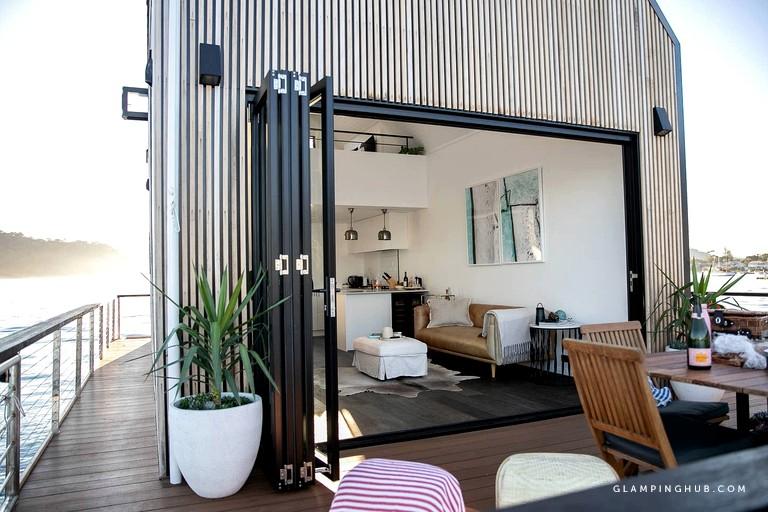 Modern Floating Villa near Sydney via Glamping Hub