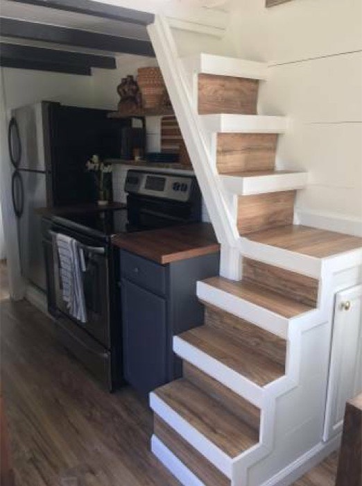 Modern Tiny House on Wheels in Denver 009 - Download Stair Design For Small House Inside Pictures