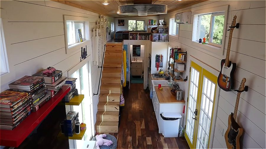Nerds Gone Tiny Idris Tiny House via TIny House Giant Journey YouTube 003