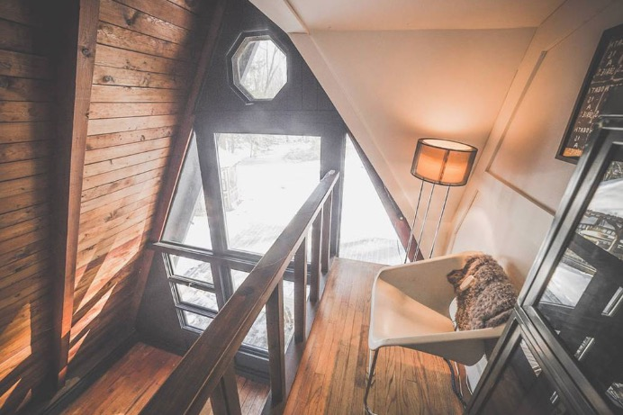 Off Grid A-frame Cabin in the Catskills Photos by Chris Daniele via Airbnb