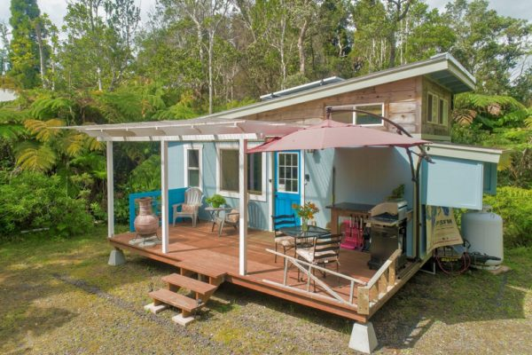 Off-Grid Lil Blue Tiny House in Volcano, Hawaii – $179,900