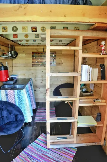 Off Grid Tiny Shanty Cabin Vacation Getaway on 100 Forested Acres in Montana 008